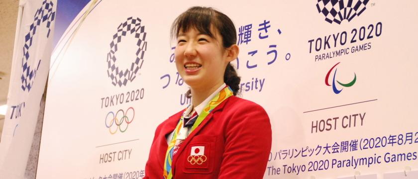 リオ五輪銅メダリスト小俣夏乃選手が調布市を訪問