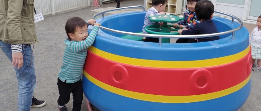 寒さに負けず、幼稚園で遊ぼう♪