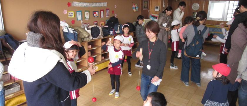 調布若竹幼稚園恒例♪「昔遊びの会」