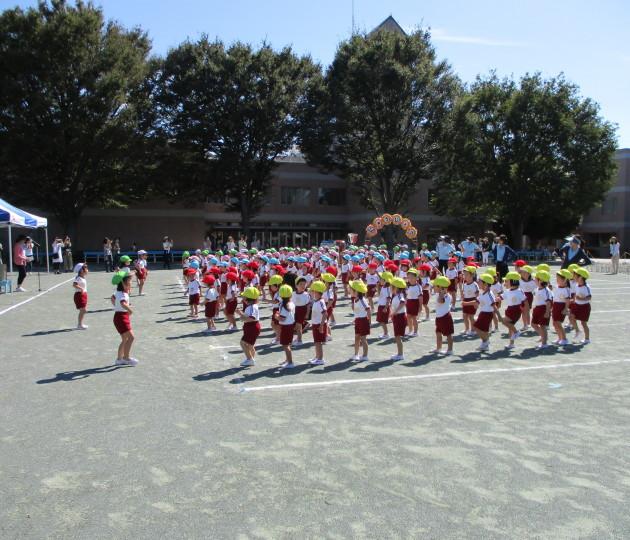 全力で運動会の練習中!マリアの園幼稚園